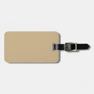 Matte Gold Travel Bag Tag