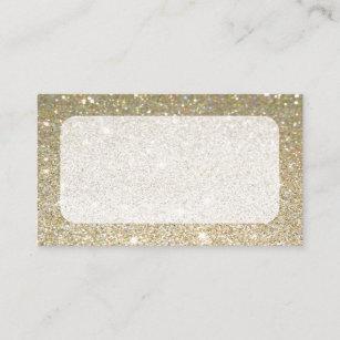 Matte Gold Sparkle Business Cards Or Rsvp Card