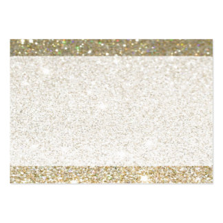 Matte gold sparkle business cards or RSVP card
