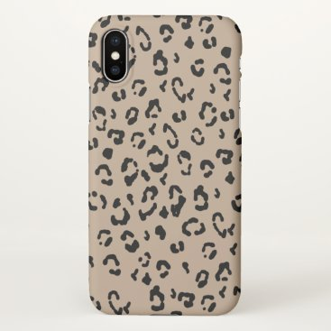 Matte Leopard - Cheetah Print iPhone X Case