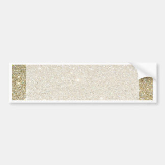Matte sparkle gold invite for any occasion bumper sticker