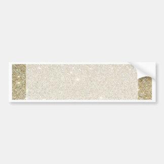 Matte sparkle gold invite for any occasion bumper sticker