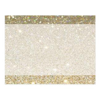 Matte sparkle gold invite for any occasion postcard