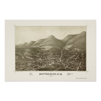 Matteawan, NY Panoramic Map - 1886 Poster