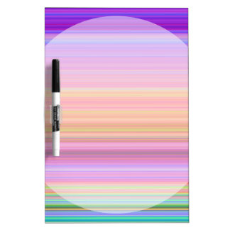 Matted Pink Purple Blue Stripes II Dry-Erase Whiteboards