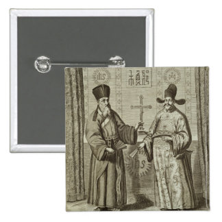 Matteo Ricci (1552-1610) and Paulus Li, from 'Chin Pins