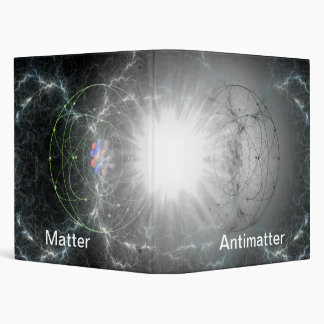 Matter / antimatter reaction 3 ring binder