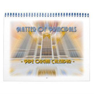 Matter of Principals - pipe organ calendar
