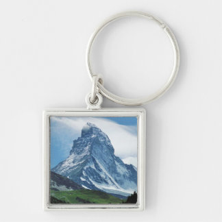 Matterhorn, Alps Silver-Colored Square Keychain
