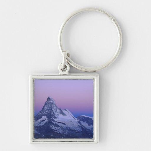 Matterhorn at dawn, Zermatt, Swiss Alps, Key Chain