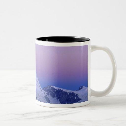 Matterhorn at dawn, Zermatt, Swiss Alps, Two-Tone Coffee Mug