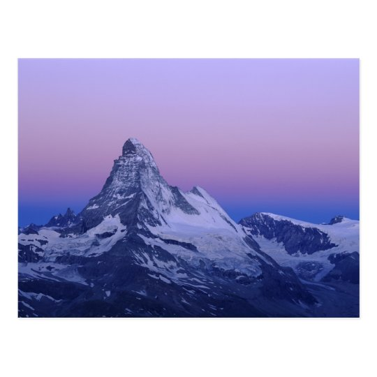 Matterhorn at dawn, Zermatt, Swiss Alps, Postcard