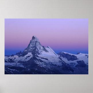 Matterhorn at dawn, Zermatt, Swiss Alps, Poster
