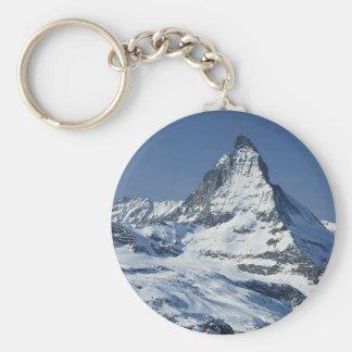 Matterhorn Basic Round Button Keychain