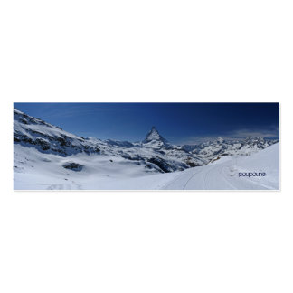 Matterhorn bookmark Double-Sided mini business cards (Pack of 20)