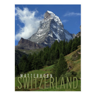 matterhorn in switzerland postcard