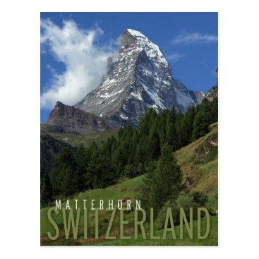 sumners matterhorn in switzerland postcard