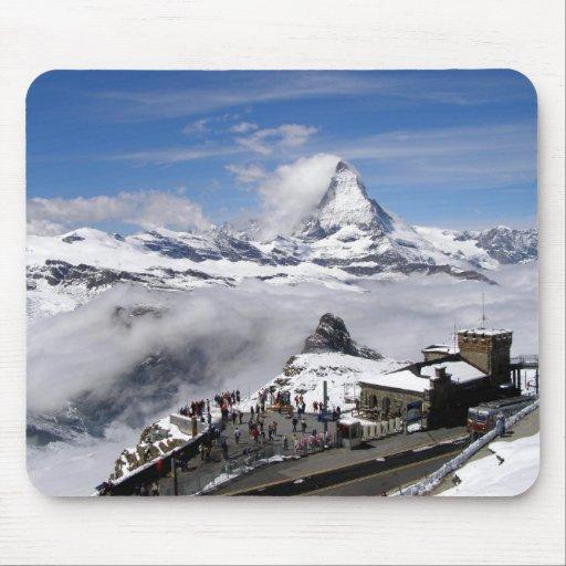 Matterhorn mountain and Gornergrat station Mouse Pad