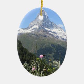 Matterhorn Mountain photo Ceramic Ornament