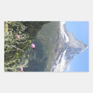 Matterhorn Mountain photo Rectangular Sticker