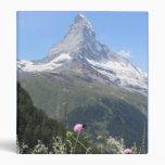 Matterhorn Mountain photo Vinyl Binders