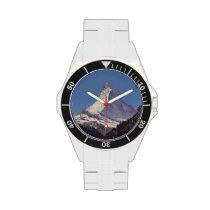 Matterhorn Mountain Stainless Steel Climber Watch at Zazzle