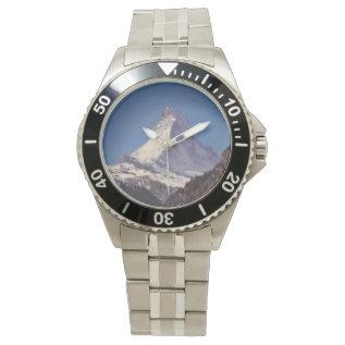 Matterhorn Mountain Stainless Steel Mens Watch at Zazzle