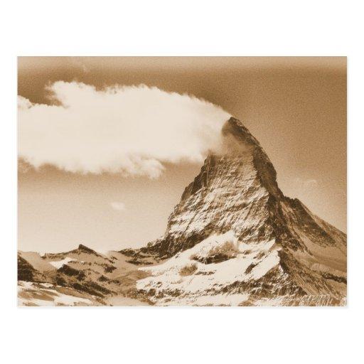 Matterhorn postcard. Zermatt in Switzerland Postcard