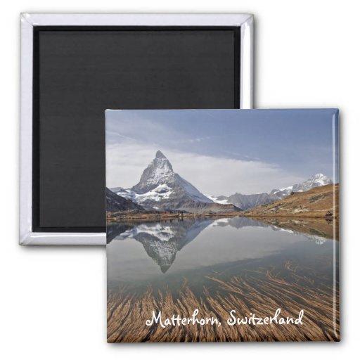 Matterhorn' reflection fridge magnets