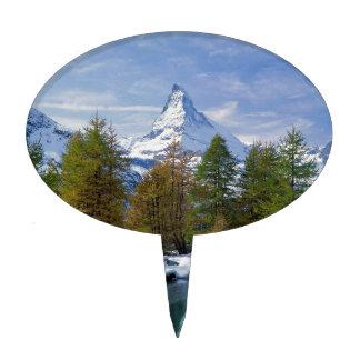 Matterhorn Switzerland Cake Toppers