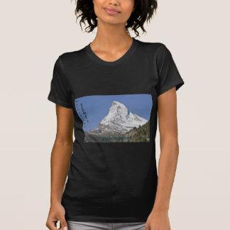 Matterhorn with text tee shirt