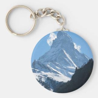 Matterhorn, Zermatt Basic Round Button Keychain