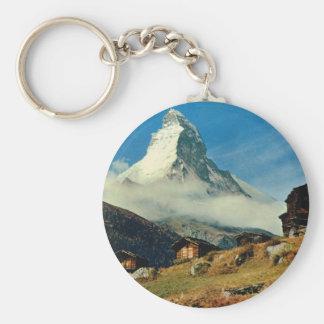 Matterhorn, Zermatt, Switzerland Basic Round Button Keychain
