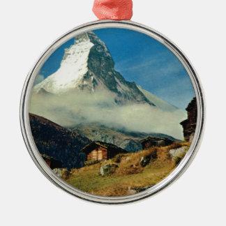 Matterhorn, Zermatt, Switzerland Metal Ornament