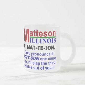 Matteson, Illinois Taza Cristal Mate