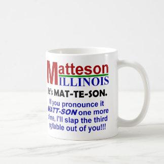 Matteson, Illinois Taza Básica Blanca