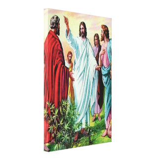 Matthew 10 Jesús envía la lona doce Impresión En Lona