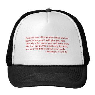 Matthew-11-28-29-opt-burg.png Trucker Hat