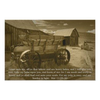 Matthew 11:28-30 poster print