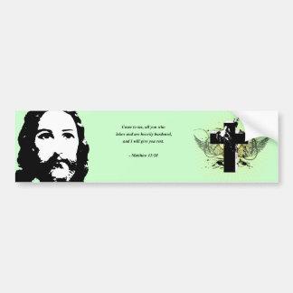 MATTHEW 11:28 BUMPER STICKER