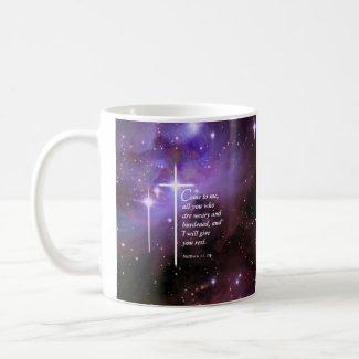 Matthew 11:28 classic white coffee mug