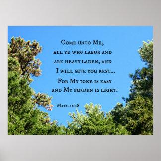 Matthew 11:28 Come unto me all ye who labor.... Print