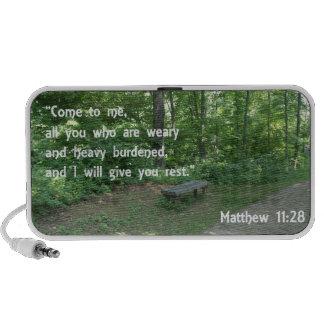 Matthew 11:28 iPhone speaker