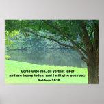 Matthew 11:28 poster