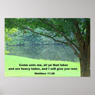 Matthew 11:28 posters