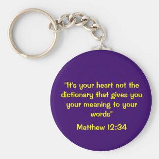 Matthew 12:34 Keychain