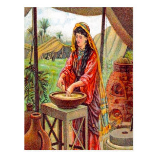 Matthew 13:33 Parable About Yeast postcard