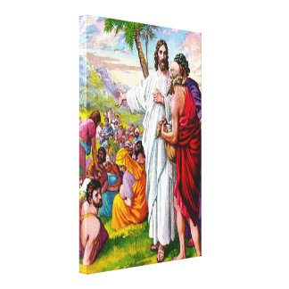 Matthew 14:13-21 Jesus Feeds 5000 Men Canvas