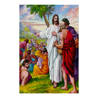 Matthew 14:13-21 Jesus Feeds 5000 Men Poster