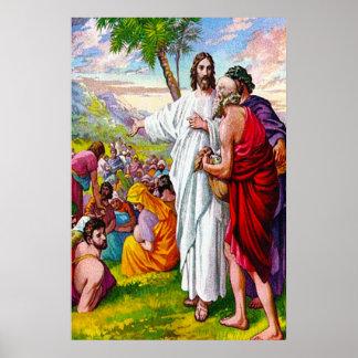 Matthew 14:13-21 Jesus Feeds 5000 Men Poster